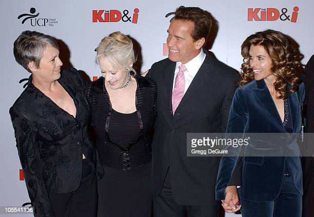 Jamie Lee Curtis Penelope Spheeris Arnold Schwarzenegger and Maria Shriver