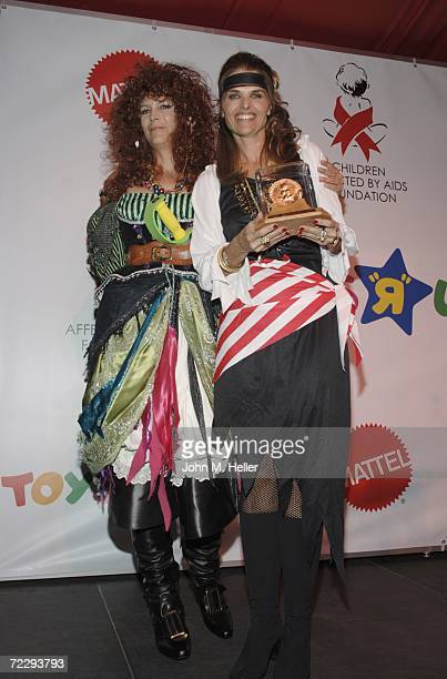 Jamie Lee Curtis presents Maria Shriver with the Ribbon of Dreams Celebrity Hero Award at the 13th Annual Dream Halloween Fundraiser for the Children...
