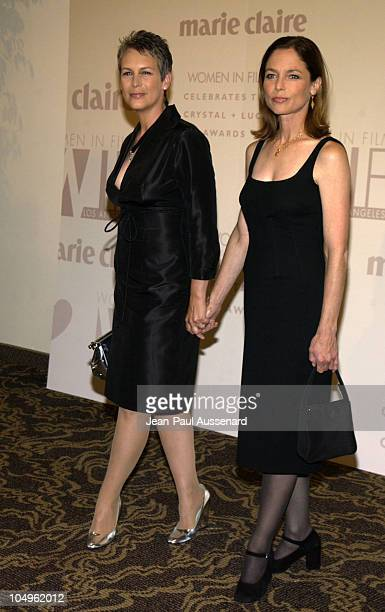 Jamie Lee Curtis & sister Kelly Curtis during 2003 Women In Film Crystal + Lucy Awards Sponsored by Marie Claire - Arrivals at Century Plaza Hotel in...