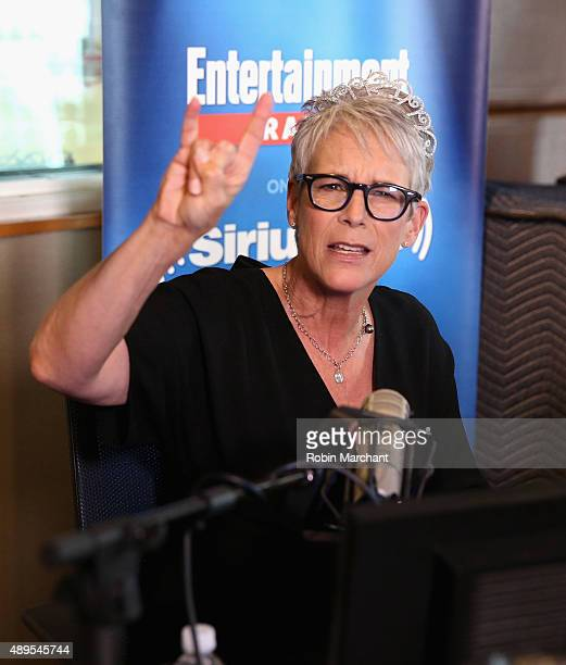 Jamie Lee Curtis visits SiriusXM's Entertainment Weekly Radio 'Editor's Hour' with Jess Cagle host of Entertainment Weekly Radio at SiriusXM Studios...