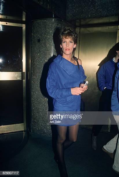 Jamie Lee Curtis wearing blue at NBC circa 1970 New York