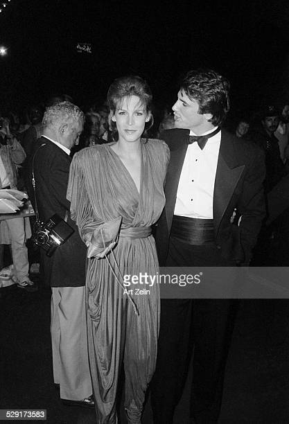 Jamie Lee Curtis with a friend at a formal event circa 1970 New York