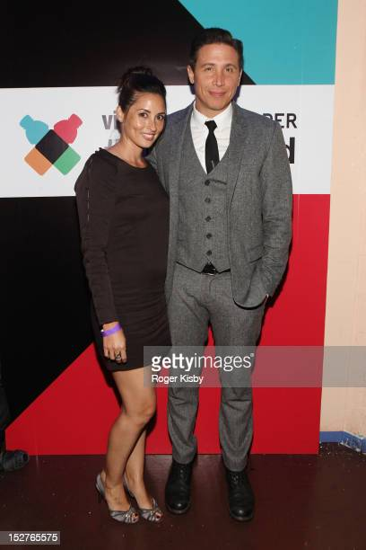 Jamie LeePalladino and Erik Palladino attend vitaminwater Fader uncapped at the The Angel Orensanz Foundation on September 24 2012 in New York City