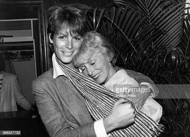 Jamie Leigh Curtis and mother Janet Leigh circa 1983 in New York City