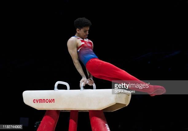 Jamie Lewis in action during Gymnastics World Cup 2019 at Genting Arena Birmingham