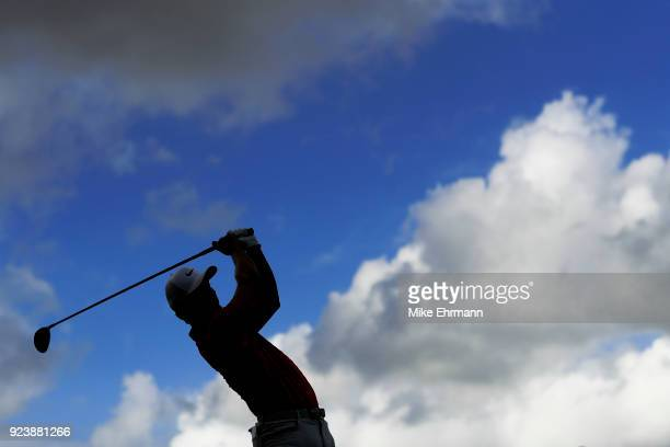 Jamie Lovemark hits his tee shot on the 12th during the third round of the Honda Classic at PGA National Resort and Spa on February 24 2018 in Palm...