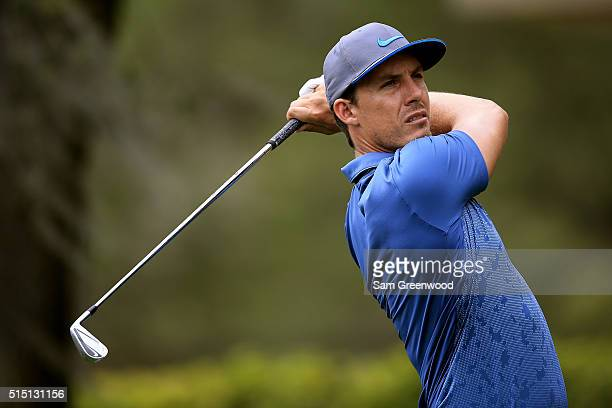 Jamie Lovemark hits off the second tee during the third round of the Valspar Championship at Innisbrook Resort Copperhead Course on March 12 2016 in...