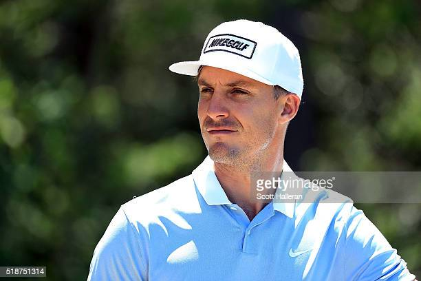 Jamie Lovemark of the United States waits on the fifth tee during the third round of the Shell Houston Open at the Golf Club of Houston on April 2...