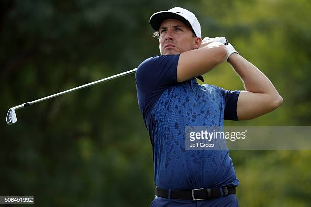 Jamie Lovemark plays his tee shot on the sixth hole during the third round of the CareerBuilder Challenge In Partnership With The Clinton Foundation...