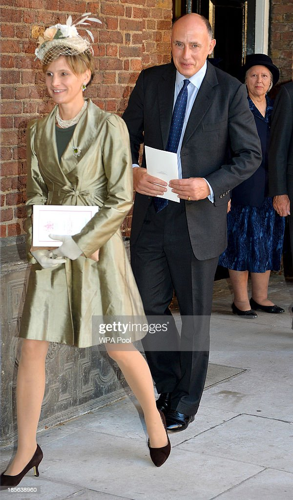 HRH Prince George Of Cambridge Is Christened At St James' Palace : News Photo