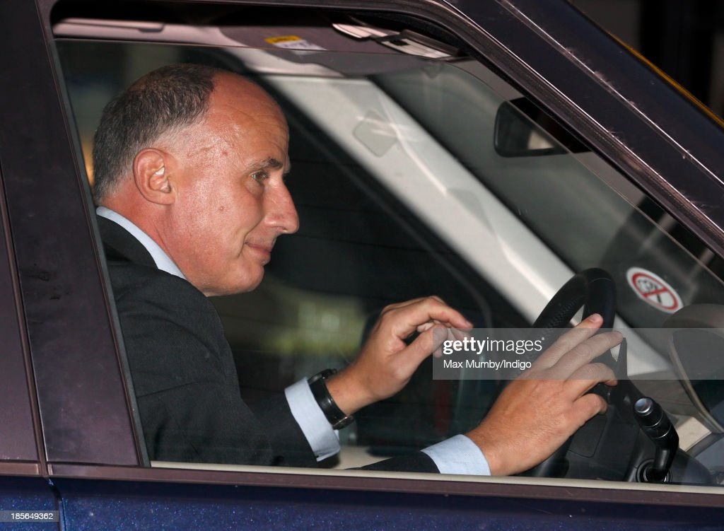 Jamie Lowther-Pinkerton (Godfather to Prince George of Cambridge) leaves Kensington Palace after earlier attending Prince George of Cambridge's christening at the Chapel Royal in St James's Palace on October 23, 2013 in London, England.