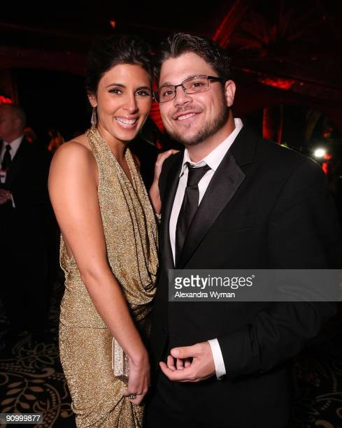 Jamie Lynn Sigler and Jerry Ferrara attend HBO's post Emmy Awards reception at the Pacific Design Center on September 20, 2009 in West Hollywood,...