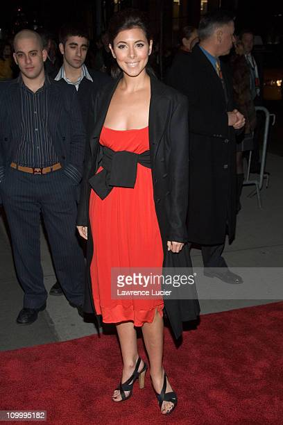 Jamie Lynn Sigler during The Sopranos Sixth Season New York City Premiere Outside Arrivals at Museum of Modern Art in New York City New York United...