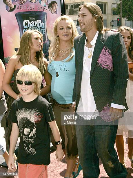 Jamie Lynn Spears Britney Spears and Kevin Federline at the Charlie and the Chocolate Factory Los Angeles Premiere Arrivals at Grauman's Chinese...