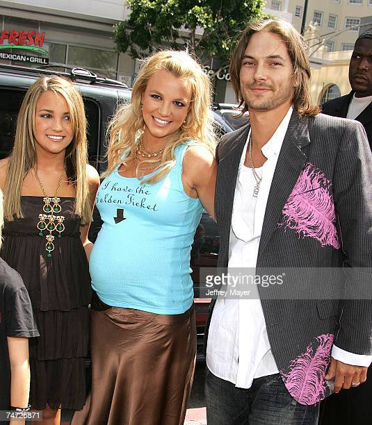 Jamie Lynn Spears Britney Spears and Kevin Federline at the Chinese Theatre in Hollywood California