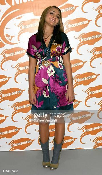 Jamie Lynn Spears during 2006 Nickelodeon Kids Choice Awards - Backstage at Palalido in Milan, Italy.