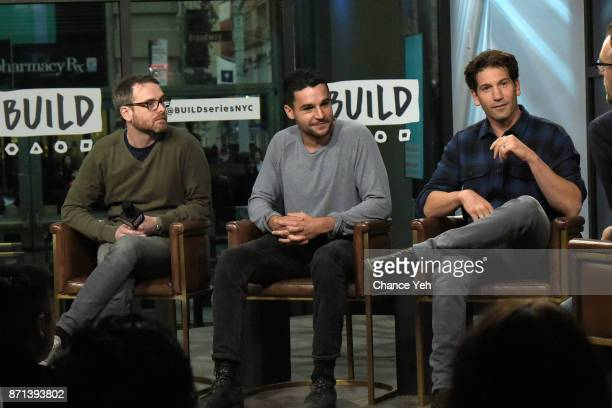 Jamie M Dagg Christopher Abbott and Jon Bernthal attend Build series to discuss 'Sweet Virginia' at Build Studio on November 7 2017 in New York City