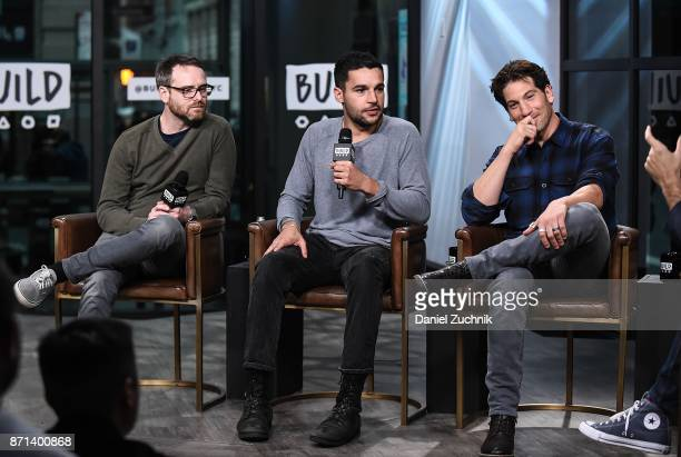 Jamie M Dagg Christopher Abbott and Jon Bernthal attend the Build Series to discuss the new film 'Sweet Virginia' at Build Studio on November 7 2017...
