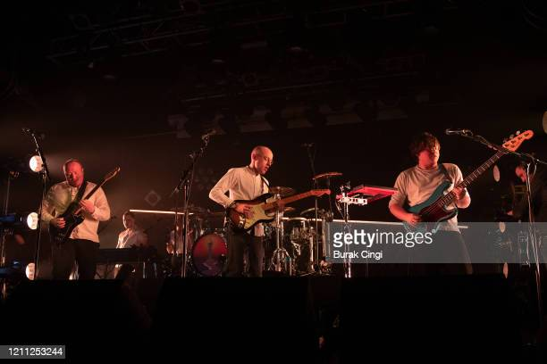 Jamie MacColl, Jack Steadman and Ed Nash of Bombay Bicycle Club perform at Electric Ballroom on day 3 of BBC 6 Music Festival on March 08, 2020 in...