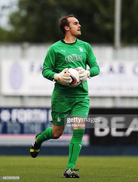 Jamie MacDonald of Falkirk looks on during the Pre Season Friendly match between Falkirk v Rotherham United at The Falkirk Stadium on July 18 2014...