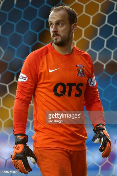 Jamie MacDonald of Kilmarnock FC during the Betfred Scottish League Cup match between Kilmarnock and St Mirren at Rugby Park on July 13 2018 in...