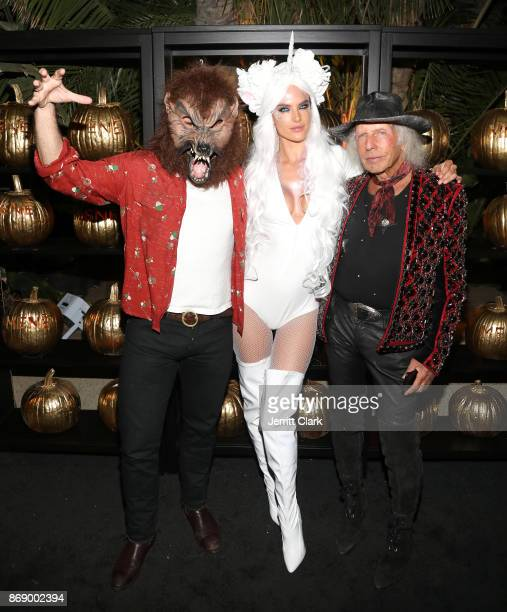 Jamie Mazur Alessandra Ambrosio and James Goldstein attend Darren Dzienciol and Alessandra Ambrosio's Halloween Bash on October 31 2017 in Los...