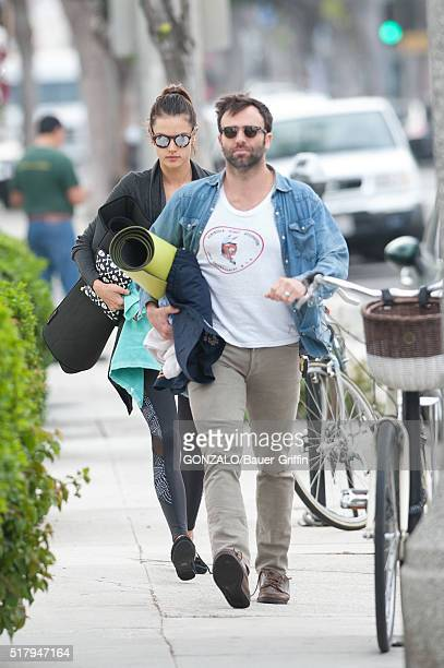Jamie Mazur and Alessandra Ambrosio are seen on March 28 2016 in Los Angeles California