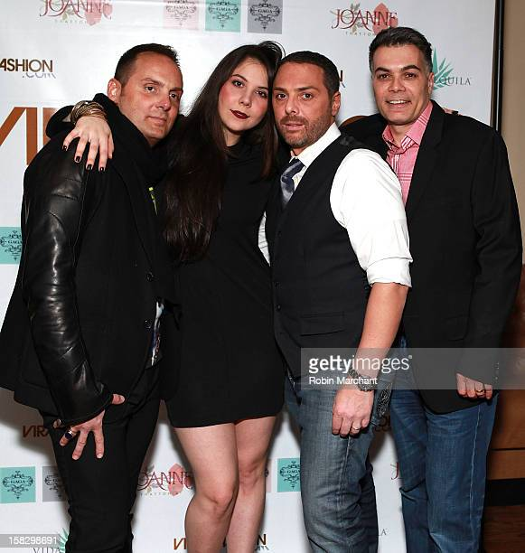 Jamie Mazzei Natali Germanotta Christian Fleres and Vincent Cascio attend the Viral Fashion launch party at Joanne Trattoria on December 12 2012 in...