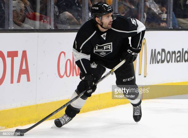 Jamie McBain of the Los Angeles Kings plays in the game against the Florida Panthers at Staples Center on November 18 2014 in Los Angeles California