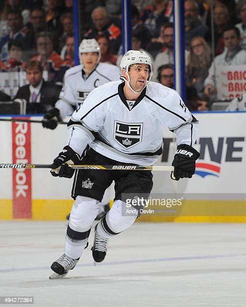 Jamie McBain of the Los Angeles Kings skates during a game against the Edmonton Oilers on October 25 2015 at Rexall Place in Edmonton Alberta Canada