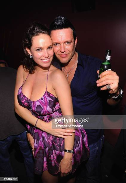 Jamie McCarthy and guest attend the birthday celebration at Tranta Night Club on January 30 2010 in St Maarten Netherlands Antilles