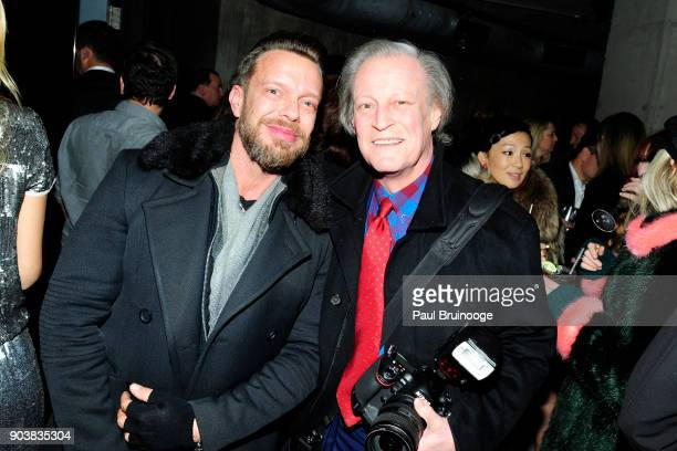 Jamie McCarthy and Patrick McMullan attend The Cinema Society Bluemercury host the after party for IFC Films' 'Freak Show' at Public Arts on January...