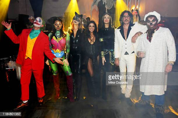 Jamie McCarthy Megan Thompson Kelly Castriota Tiffany TrulliBriganti Dimitrios Kambouris and Kevin Mazur attend Heidi Klum's 20th Annual Halloween...