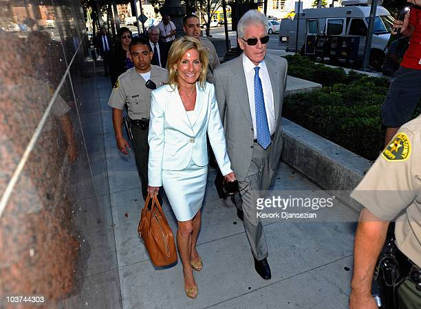 Jamie McCourt Former Los Angeles Dodgers CEO arrives with her attorney Dennis Wasser at Los Angeles County Superior Court for day two of a nonjury...