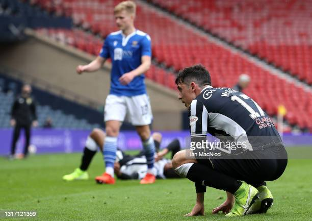 Jamie McGrath of St Mirren looks dejected after the William Hill Scottish Cup Semi-Fianl match between St Mirren and St Johnstone at Hampden Park on...