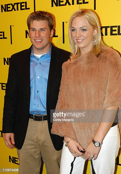 Jamie McMurray and guest during 2004 Nascar Nextel Cup Series Champion's Celebration at Marquee in New York City New York United States