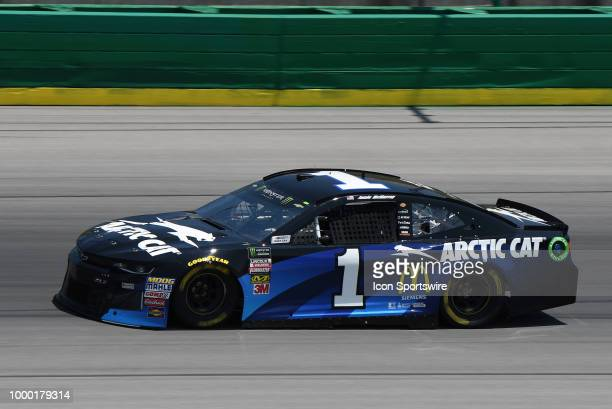 Jamie McMurray Chip Ganassi Racing Chevrolet Camaro ZL1 drives through turn four during practice for the Monster Energy NASCAR Cup Series Quaker...