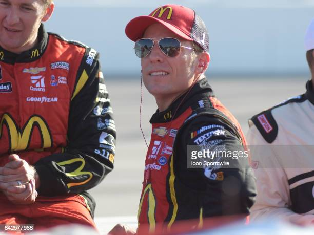 Jamie McMurray Chip Ganassi Racing McDonalds/Cessna Chevrolet SS before the NASCAR Monster Energy Cup Series Bojangles Southern 500 on September 03...