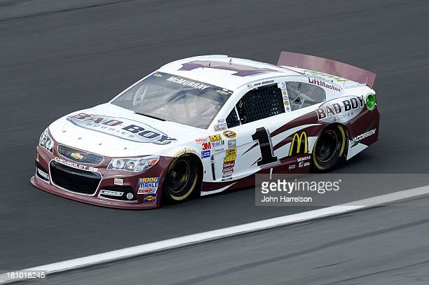 Jamie McMurray driver of the Bad Boy Buggies Chevrolet during practice for the NASCAR Sprint Cup Series CocaCola 600 at Charlotte Motor Speedway on...