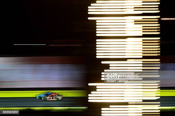 Jamie McMurray driver of the BassProShops/NationalTurkeyFoundation Chev races during the NASCAR Sprint Cup Series Sprint AllStar Race at Charlotte...