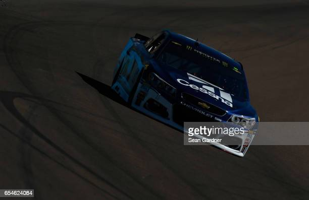 Jamie McMurray driver of the Cessna Chevrolet drives during practice for the Monster Energy NASCAR Cup Series Camping World 500 at Phoenix...