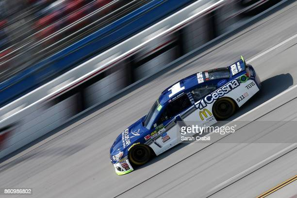 Jamie McMurray driver of the Cessna Chevrolet drives during practice for the Monster Energy NASCAR Cup Series Alabama 500 at Talladega Superspeedway...