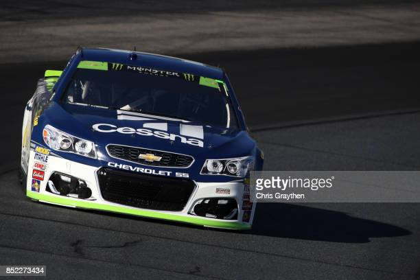 Jamie McMurray driver of the Cessna Chevrolet practices for the Monster Energy NASCAR Cup Series ISM Connect 300 at New Hampshire Motor Speedway on...