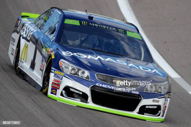 Jamie McMurray driver of the Cessna Chevrolet practices for the Monster Energy NASCAR Cup Series Hollywood Casino 400 at Kansas Speedway on October...