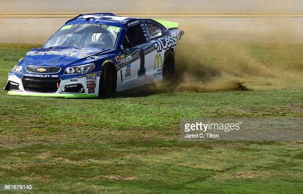Jamie McMurray driver of the Cessna Chevrolet spins during the Monster Energy NASCAR Cup Series Alabama 500 at Talladega Superspeedway on October 15...
