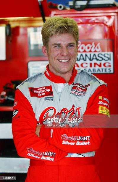 Jamie McMurray driver of the Ganassi Racing Dodge Intrepid R/T during practice for the EA Sports 500 at Talladega Superspeedway on October 4 2002 in...