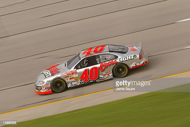 Jamie McMurray driver of the Ganassi Racing Dodge Intrepid R/T in action during practice for the EA Sports 500 at Talladega Superspeedway on October...