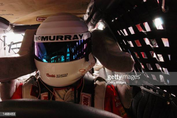 Jamie McMurray driver of the Gannasi Racing Dodge Intrepid R/T during practice for the EA Sports 500 at Talladega Superspeedway on October 4 2002 in...