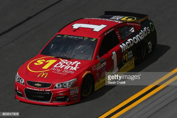 Jamie McMurray driver of the McDonald's $1 Any Size Soft Drink Chevrolet practices for the Monster Energy NASCAR Cup Series 59th Annual Coke Zero 400...
