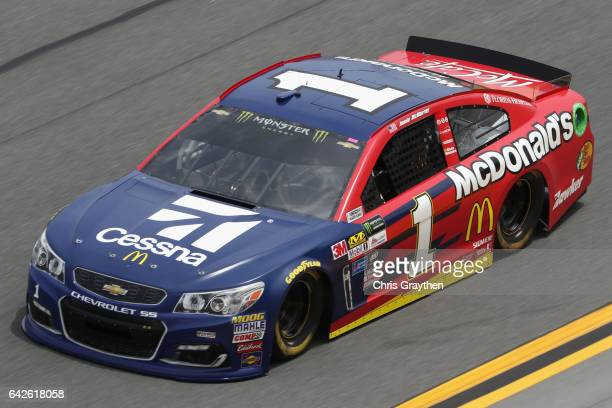Jamie McMurray driver of the McDonald's Big Mac Chevrolet during practice for the Monster Energy NASCAR Cup Series 59th Annual DAYTONA 500 at Daytona...